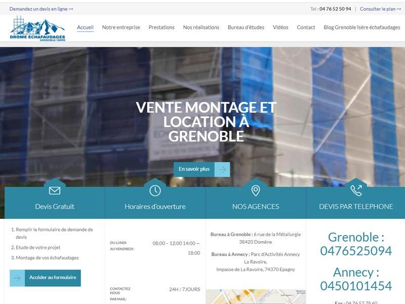 Louez votre échafaudage à Grenoble – Les travaux